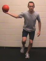 Soccer Stability – Medicine Ball 1/4 Leg Squat (Juggle)