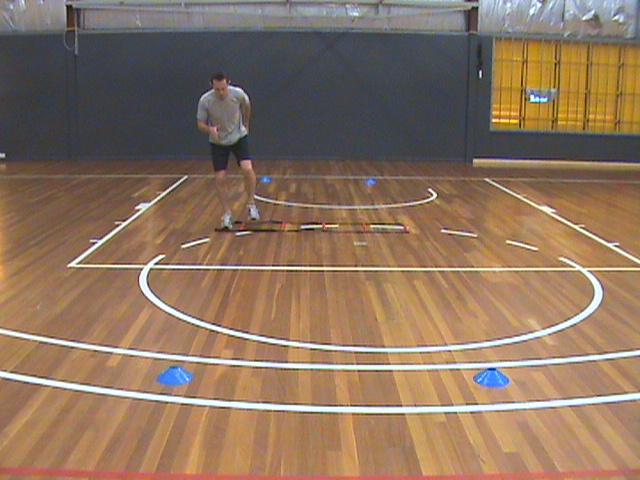 Soccer Agility – 4 Cone 1/4 Ladder Drill