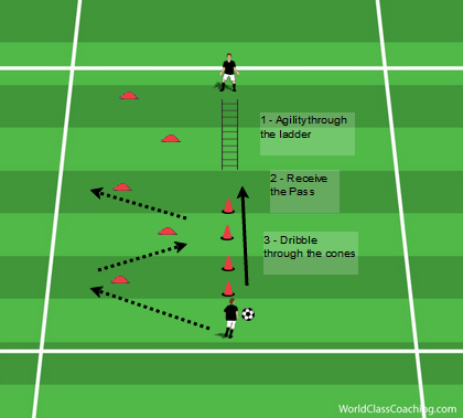 Agility, Receiving and Dribbling Circuit - 2