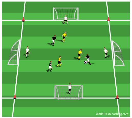 Four Goal Game with Goalkeepers