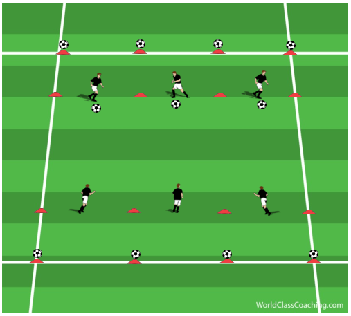 'Hit the Ball' 1v1 Game to improve Explosiveness